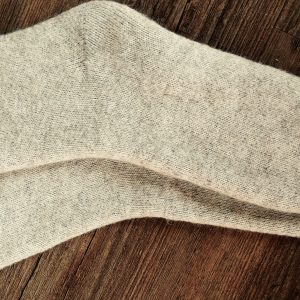 Oatmeal wool socks