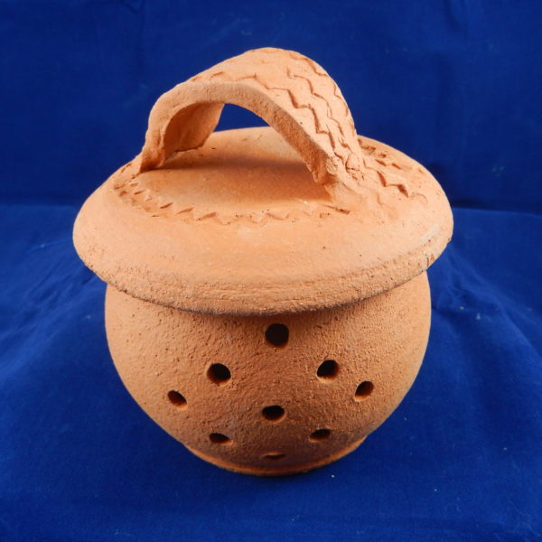 "Terra Cotta Garlic Container 5""H with lid-3.5""H without lid. 3""W at lip 4""W at belly"