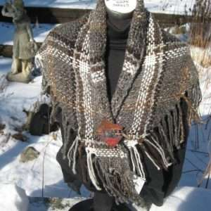 Carol's Icelandic shawl #700